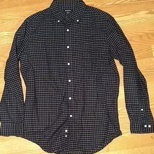 Men's ls medium plaid collared shirt